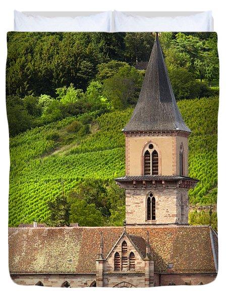 Alsace Church Duvet Cover by Brian Jannsen
