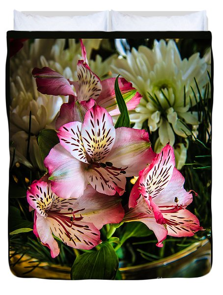 Alstroemeria Duvet Cover by Robert Bales