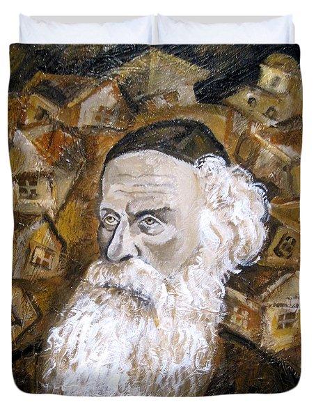 Alter Rebbe Duvet Cover by Leon Zernitsky