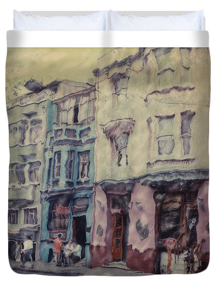 Altered Polaroid - Kybele Hotel 1 Duvet Cover by Wally Hampton