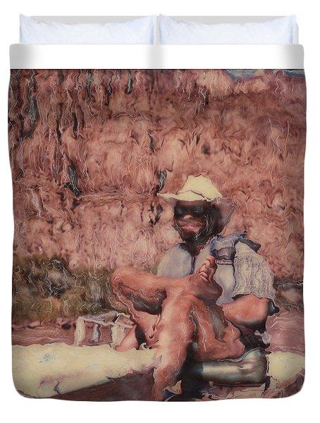 Altered Polaroid - Raft Master Matt Duvet Cover by Wally Hampton