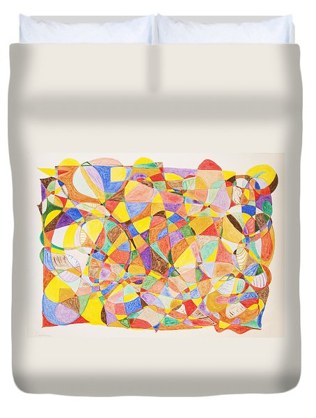 Duvet Cover featuring the painting Alternate Realities by Stormm Bradshaw