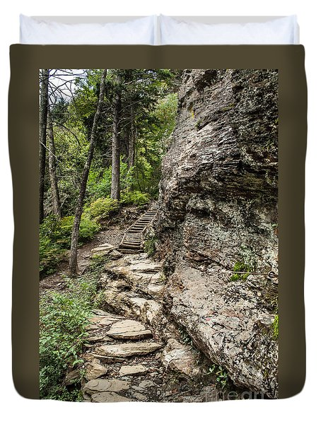 Alum Cave Trail Duvet Cover by Debbie Green