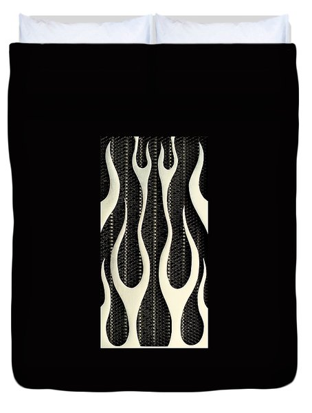 Aluminium Flames Duvet Cover