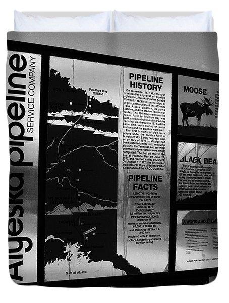 Alyeska Pipeline Duvet Cover