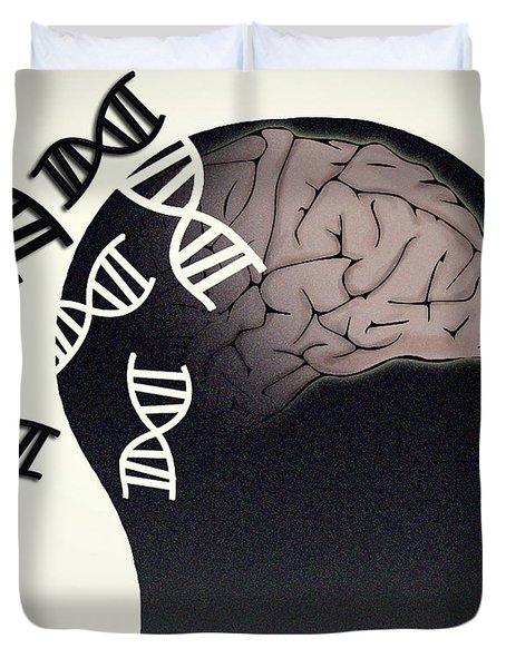 Alzheimers Disease, Genetics Research Duvet Cover