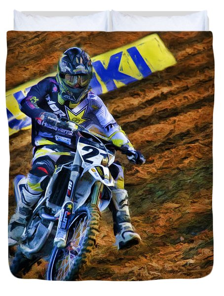 Ama 450sx Supercross Jason Anderson Duvet Cover