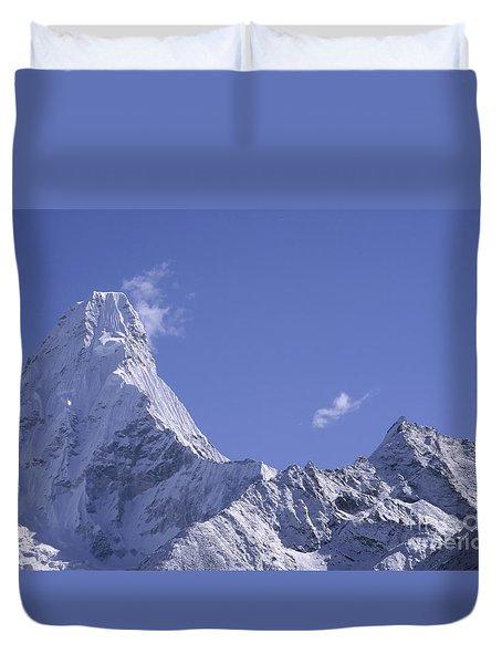 Ama Dablam Nepal Duvet Cover by Rudi Prott