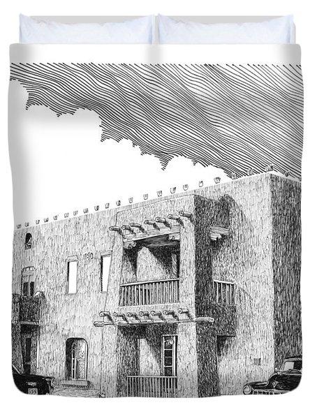 Amador Hotel In Las Cruces N M Duvet Cover by Jack Pumphrey