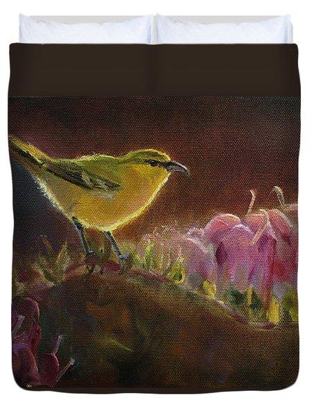 Amakihi And Kolii - Native Hawaiian Bird Duvet Cover
