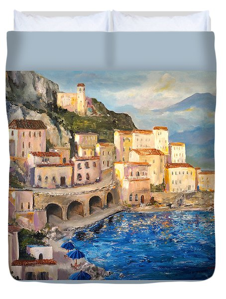 Amalfi Coast Highway Duvet Cover
