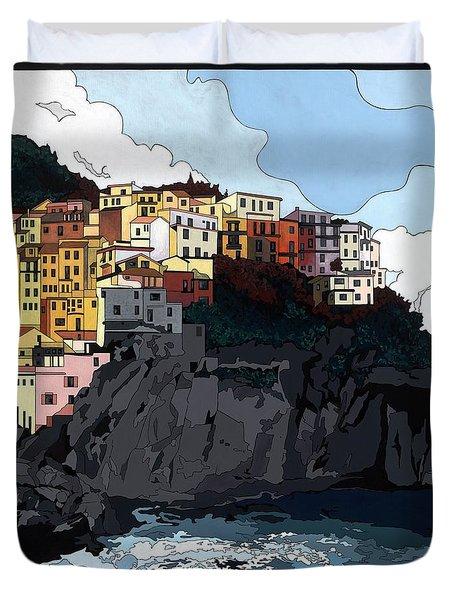 Manarola W/hidden Pictures Duvet Cover