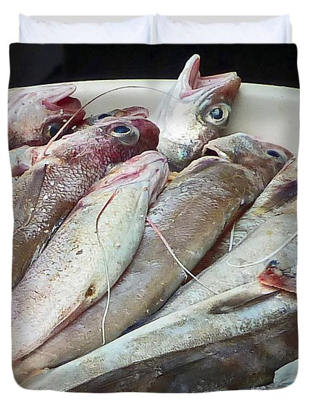 Amalfi Fish Duvet Cover by Cheryl Del Toro