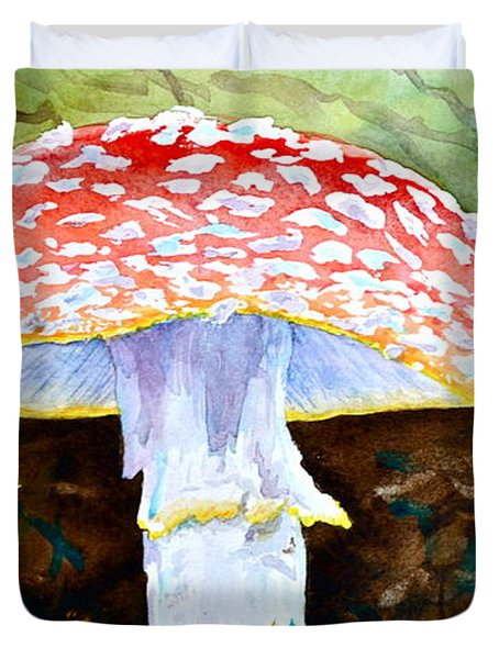 Amanita And Lacewing Duvet Cover by Beverley Harper Tinsley