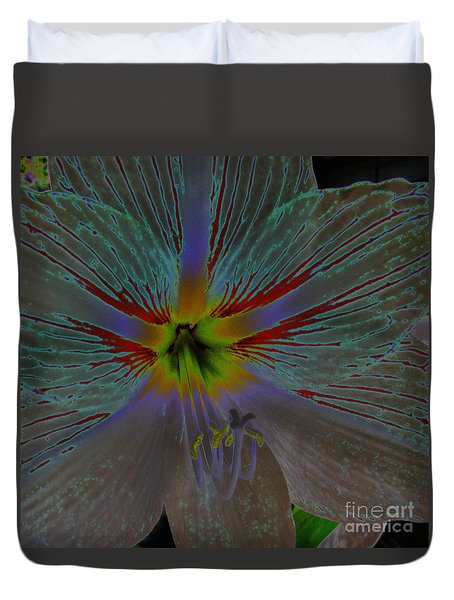 Amaryllis Colors Duvet Cover by D Hackett