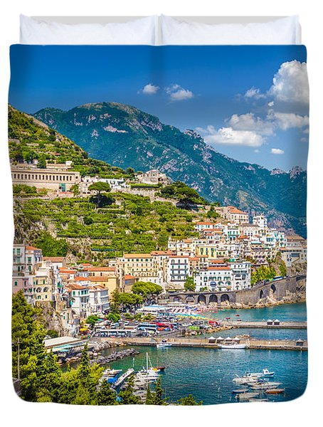 Amazing Amalfi Duvet Cover by JR Photography