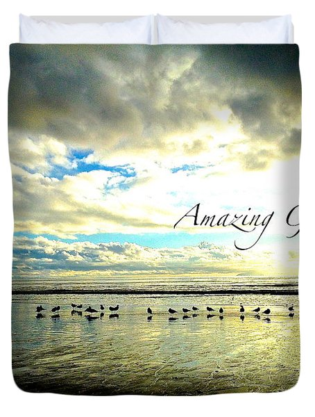 Amazing Grace Sunrise 2 Duvet Cover