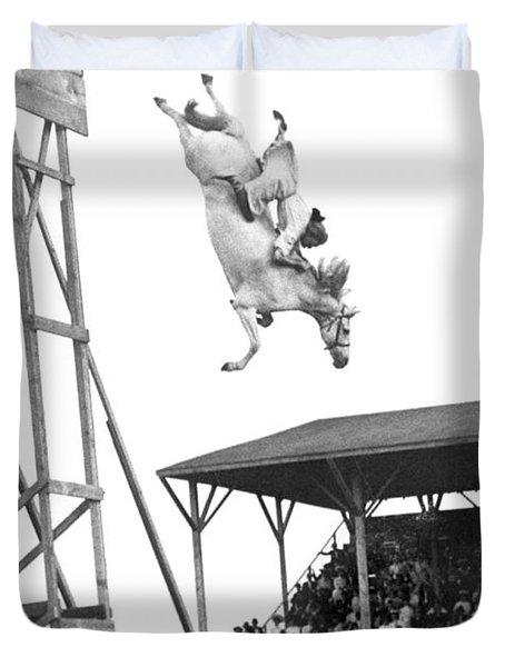 Amazing Horse Stunt Dive Duvet Cover