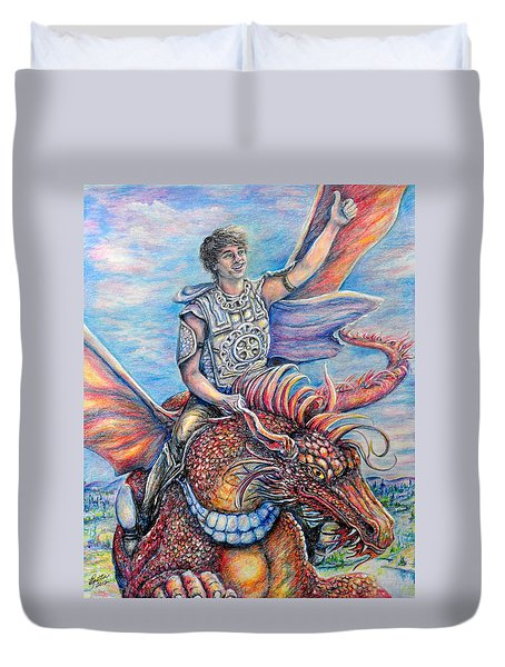 Amazing Rider Duvet Cover by Gail Butler