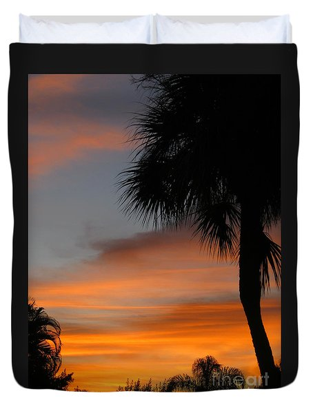 Amazing Sunrise In Florida Duvet Cover