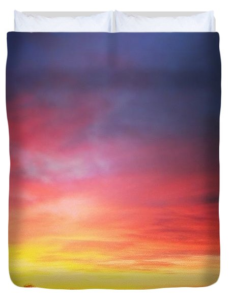 Amazing Sunset The Other Day Duvet Cover