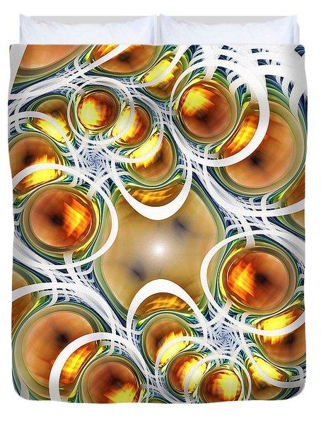Amber Clusters Duvet Cover by Anastasiya Malakhova