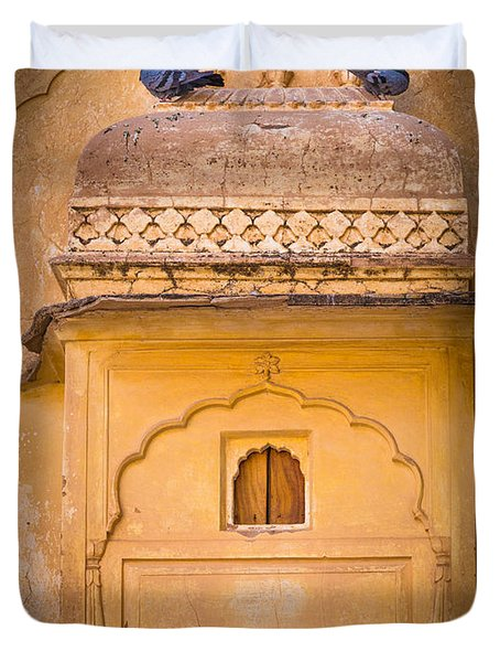 Amber Fort Birdhouse Duvet Cover