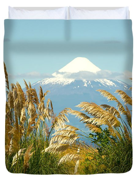 Amber Waves Of Osorno Duvet Cover