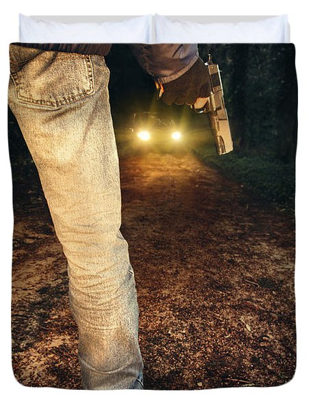 Ambush Duvet Cover by Carlos Caetano