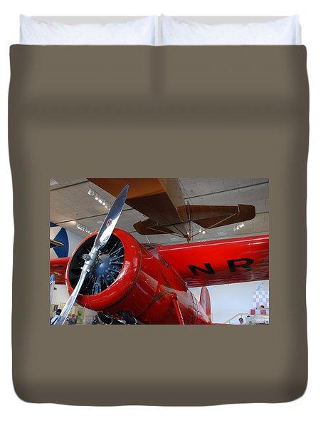 Amelia Earhart Prop Plane Duvet Cover