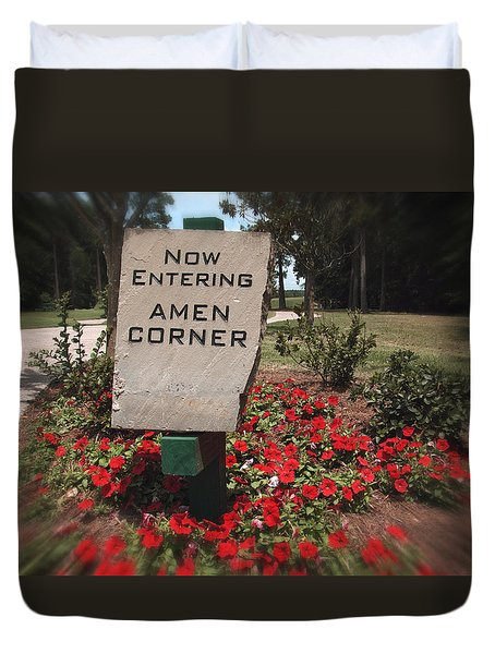 Duvet Cover featuring the photograph Amen Corner - A Golfers Dream by Ella Kaye Dickey