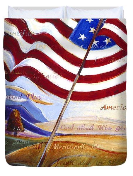 America Duvet Cover by Jen Norton