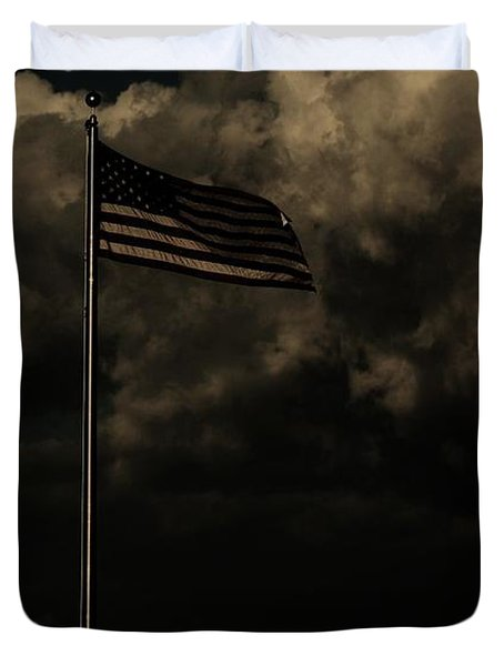 Duvet Cover featuring the photograph America....... by Jessica Shelton