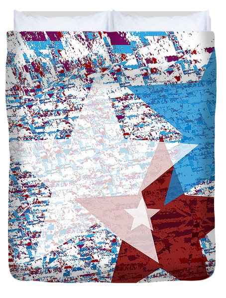 America Stars Duvet Cover by Jessica Wright