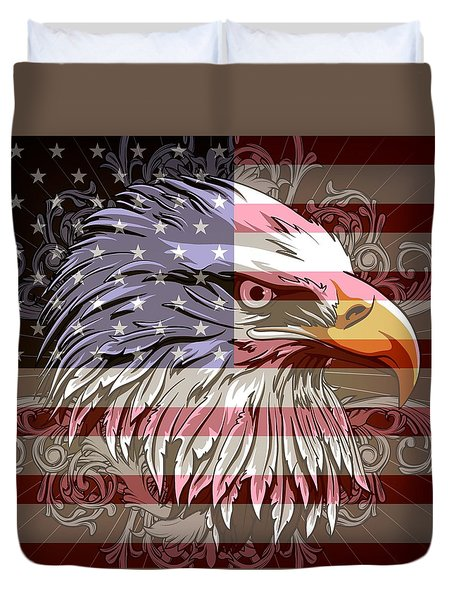 America The Beautiful Duvet Cover by Stanley Mathis