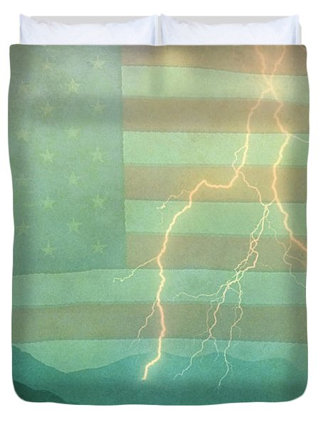 America Walk The Line  Duvet Cover by James BO  Insogna