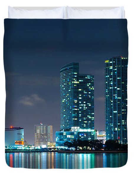 American Airlines Arena And Condominiums Duvet Cover