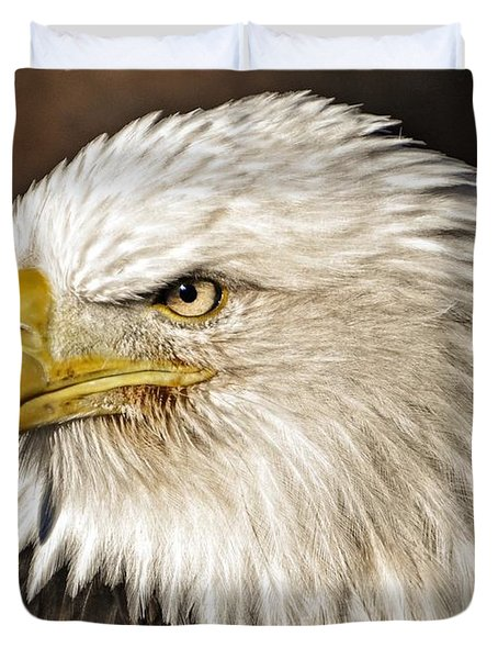 American Bald Eagle 33 Duvet Cover by Marty Koch