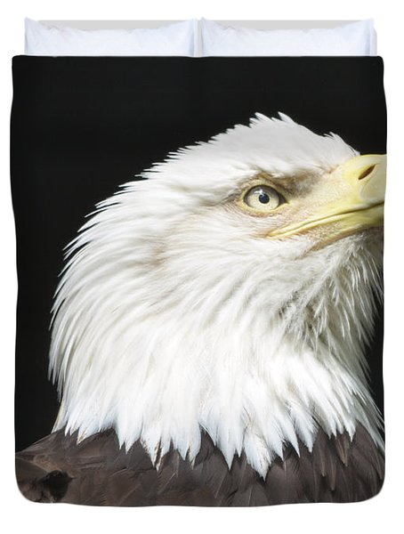 American Bald Eagle Profile Duvet Cover