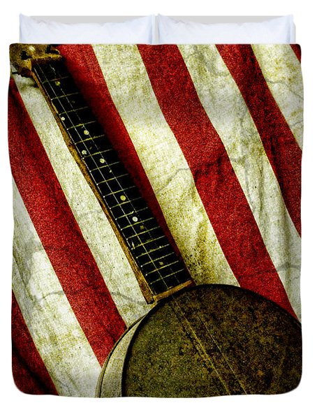 American Banjo Duvet Cover by Kristie  Bonnewell