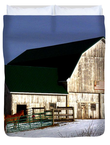 American Barn Duvet Cover by Desiree Paquette