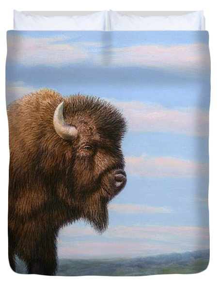 American Bison Duvet Cover by James W Johnson