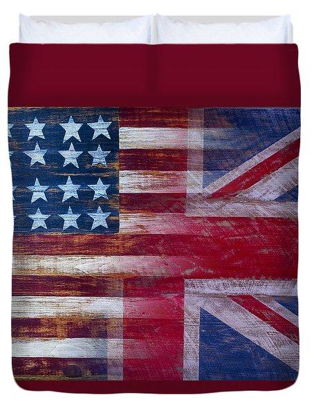 American British Flag 2 Duvet Cover