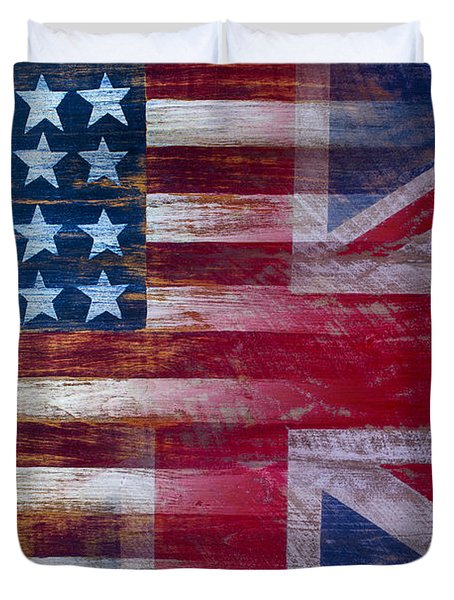 American British Flag Duvet Cover