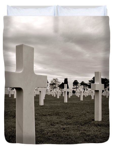 American Cemetery In Normandy  Duvet Cover