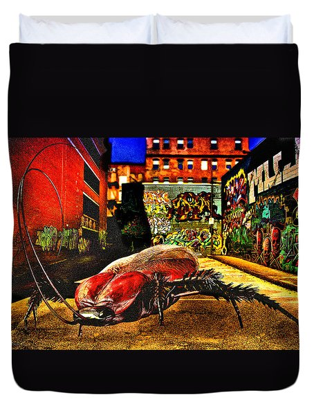 American Cockroach Duvet Cover by Bob Orsillo