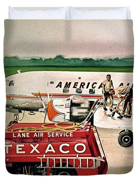 American Dc-6 At Columbus Duvet Cover