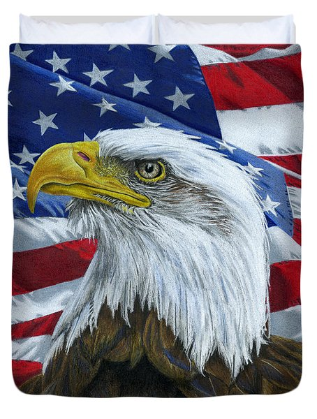 American Eagle Duvet Cover by Sarah Batalka
