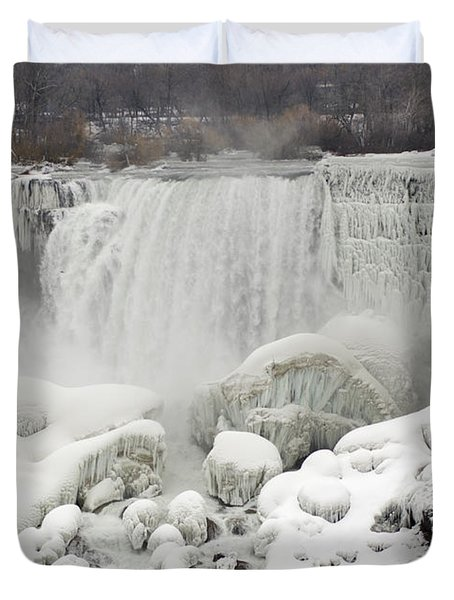 Duvet Cover featuring the photograph American Falls by JT Lewis
