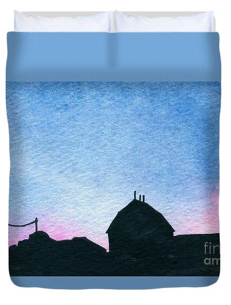 American Farm #1 Silhouette Duvet Cover